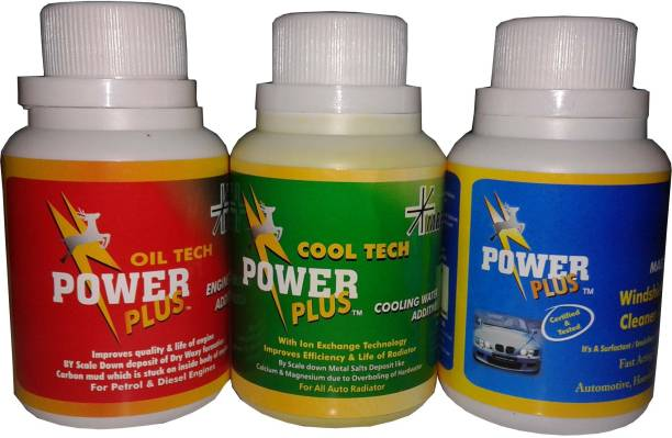 Power Plus combo pack of cool tech+oil tech+magiclean Engine Cleaner