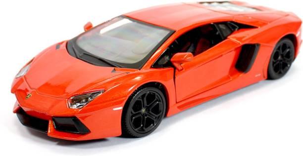 Maisto Lamborghini Aventador Red LP 700-4 1:24 By Maisto Diecast Scale Model Card