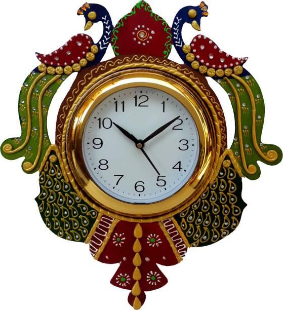 DivineCrafts Analog 35.56 cm X 30.48 cm Wall Clock