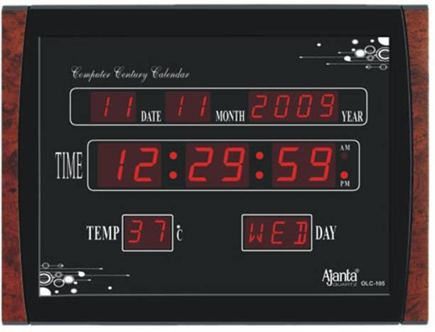 AJANTA Digital 29.6 cm X 39.6 cm Wall Clock