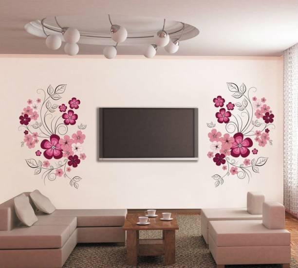 Happy Walls Pink Flower Vines TV Decor