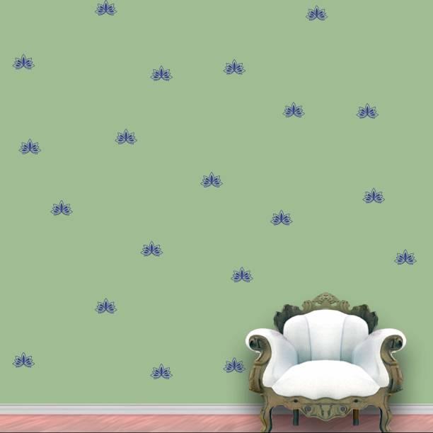 Wall Design Lotus Wall Pattern Blue Prussian Stickers Set of 60