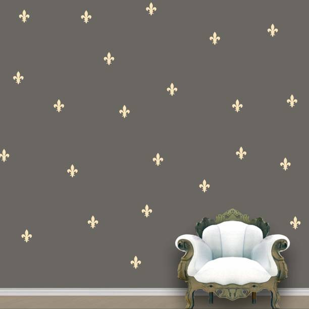 Wall Design Royal Wall Pattern Ivory Stickers Set of 55