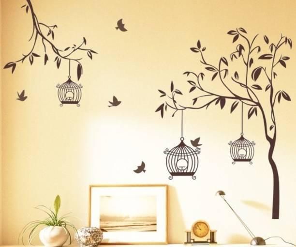 Happy Walls Tree Branch With Birds & Bird House TV Decor