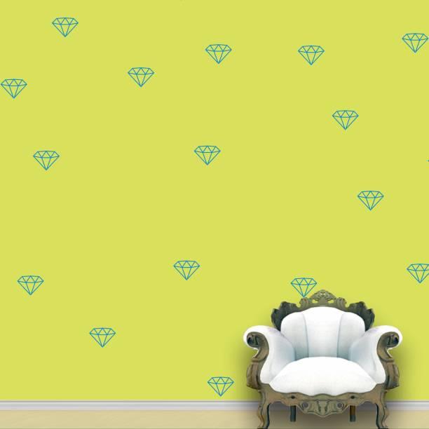 Wall Design Diamond Wall Pattern Blue Medium Stickers Set of 55