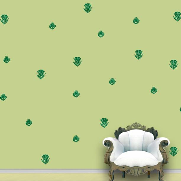 Wall Design Roses Wall Pattern Green Jungle Stickers Set of 112