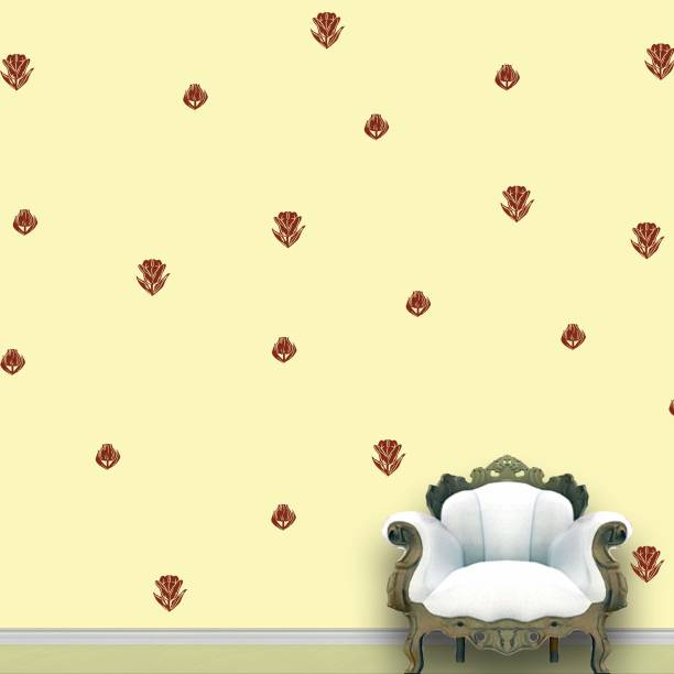 Wall Design Roses Wall Pattern Brown Stickers Set of 112
