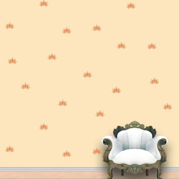 Wall Design Lotus Wall Pattern Orange Stickers Set of 60