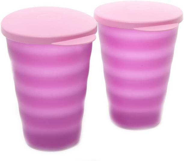 Tupperware Ripple 330 ml Water Bottles Set of 2, Purple