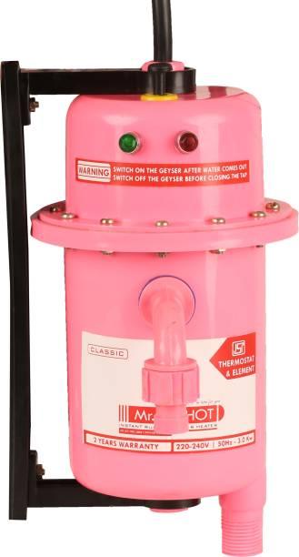 Mr.SHOT 1 L Instant Water Geyser (Manual Reset, Rose)