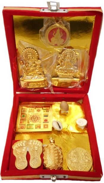 SwadesiBuyzzar Kuber Dhan Laxmi Varsha Brass Yantra