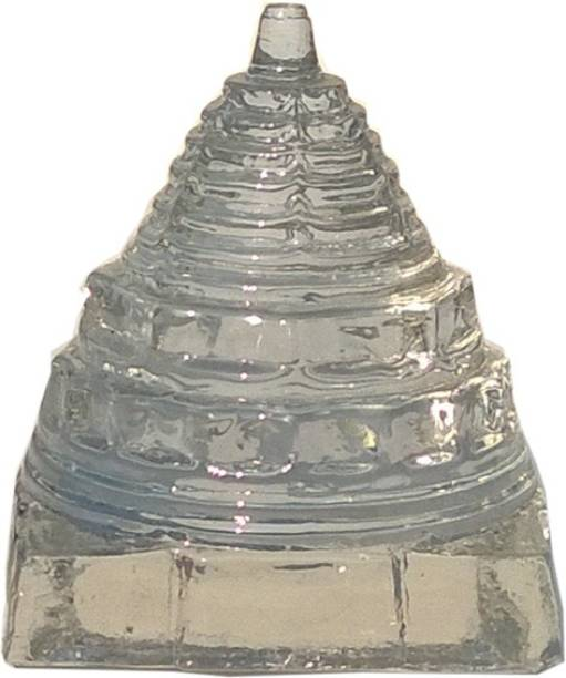 Mann Retails Crystal shriyantra blessed for positive energy and vastu correction small size Glass Yantra