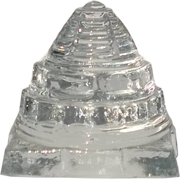 Mann Retails 100% Pure clear Crystal shriyantra blessed for positive energy and vastu correction Glass Yantra