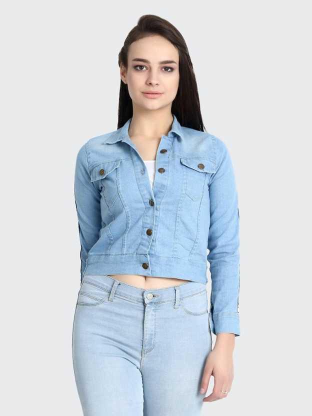 BuyNewTrendFull Sleeve Ombre Women Denim Jacket BuyNewTrend Jackets