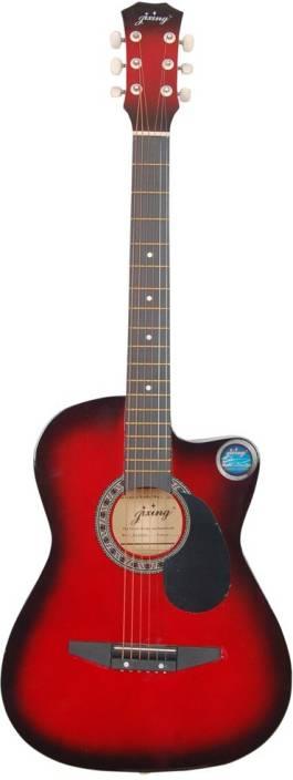 Jixing JXNG-RED Linden Wood Acoustic Guitar