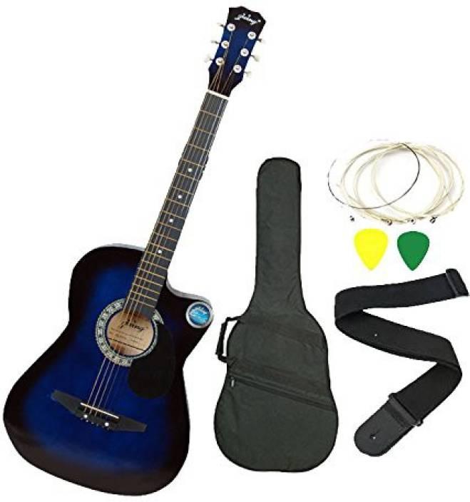 Jixing DD-380C-BLU Linden Wood Acoustic Guitar