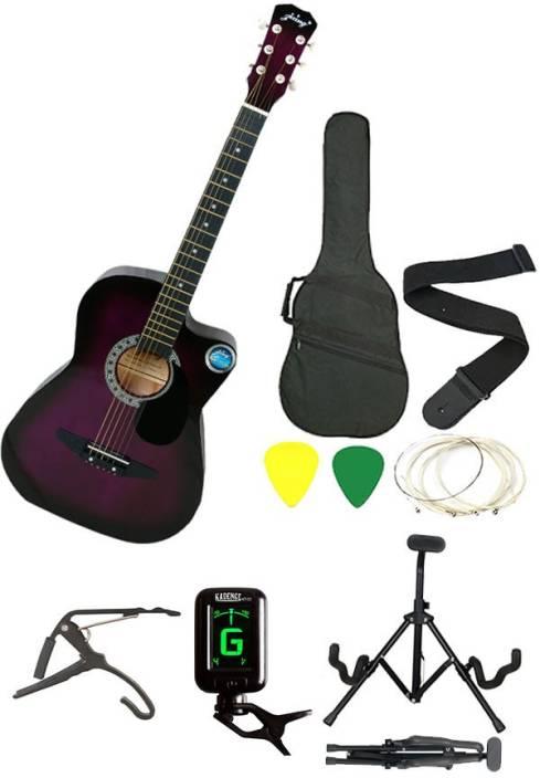 Jixing JXNG-PUR-SC Linden Wood Acoustic Guitar