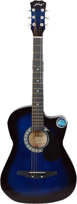 Jixing JXNG-BLU Linden Wood Acoustic Guitar
