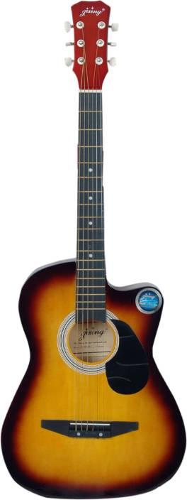 Jixing JXNG-SUN-C Linden Wood Acoustic Guitar