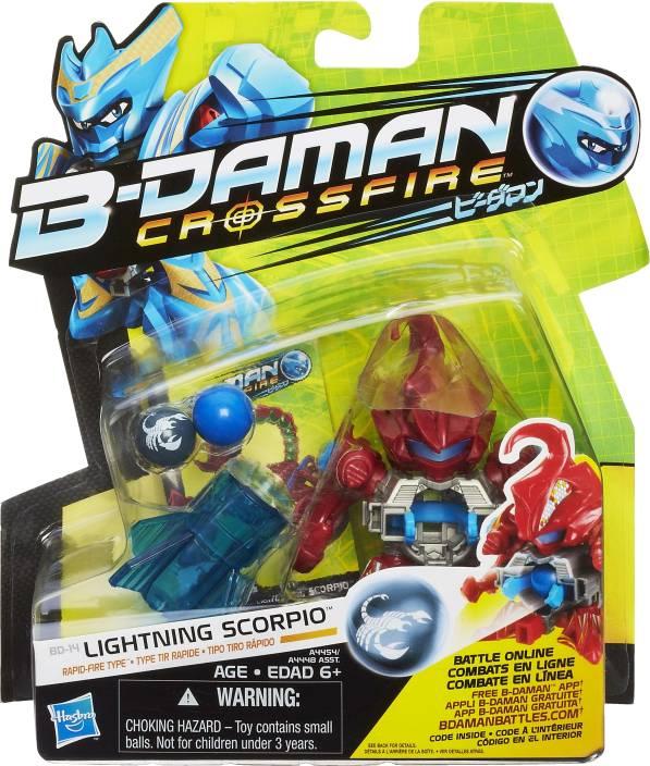 takara tomy b daman figure crossfire lightning scorpio
