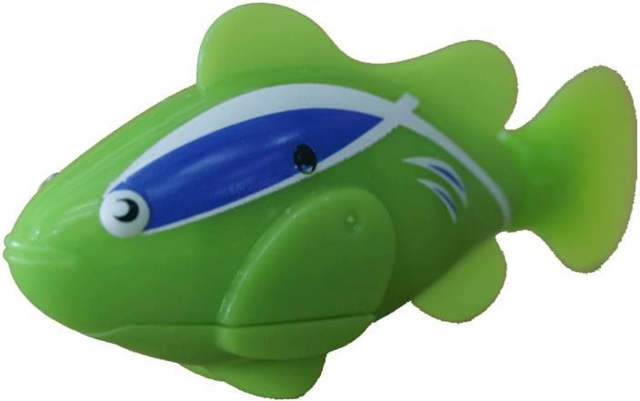 Adraxx Clownfish Water Sensitive Robot Fish for Kids Aquarium (Green)