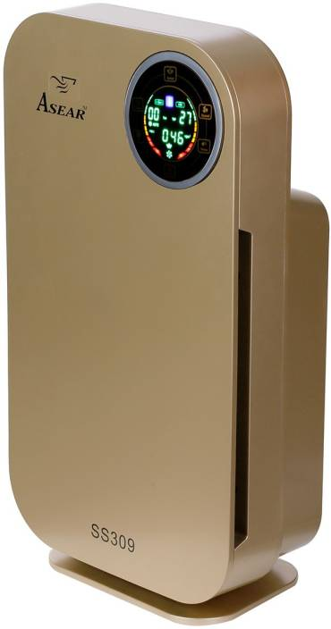 Asear SS309 7-Stage Purification Effective 529 HEPA Air Purifier with Remote Control, Air Quality Sensor ,LCD Display,(Gold) Portable Room Air Purifier