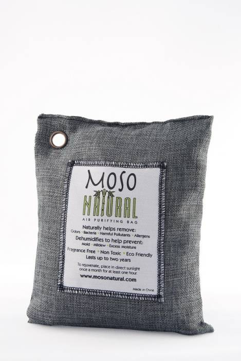 Moso Natural Air Purifying Bag 500g Charcoal Color Naturally Removes Odors, Allergens and Harmful Pollutants. Portable Room Air Purifier