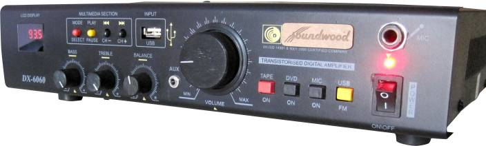 Soundwood DX-6060 Heritage USB/FM/Aux in Stereo Player AV Power Amplifier