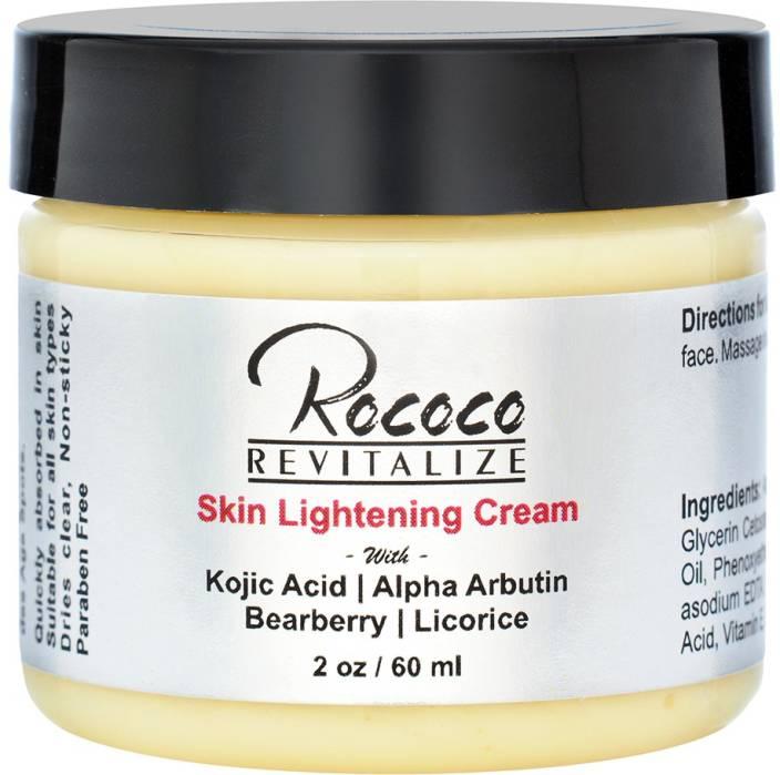 2e9f0a74a1eec Rococo Skin Lightening Cream with Kojic Acid Alpha Arbutin Bearberry  Licorice - 2oz (60 ml)
