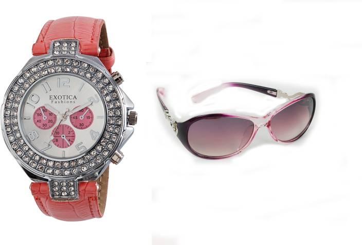 Exotica Fashions Wrist Watch Women's Combo