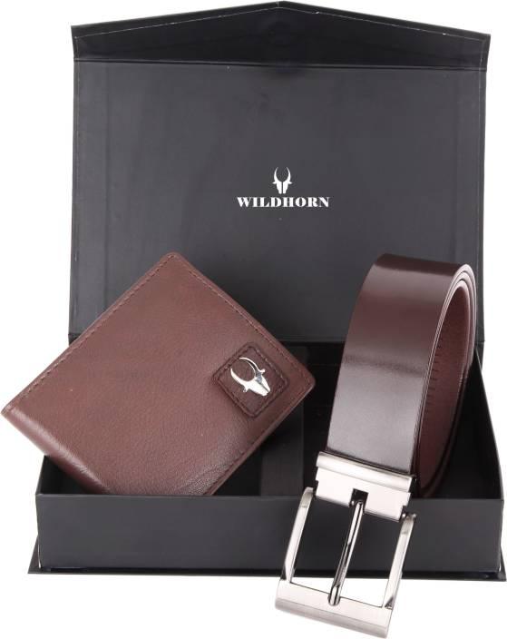 WildHorn Men Casual, Formal Brown Genuine Leather Wallet