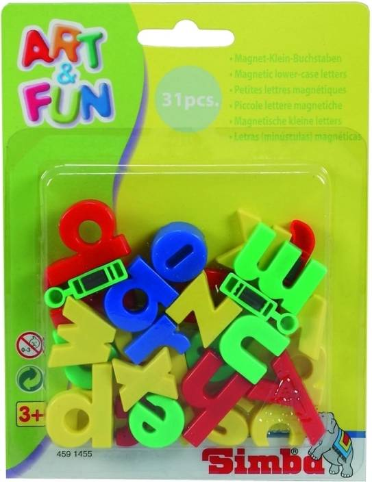 simba art and fun plastic magnetic letters