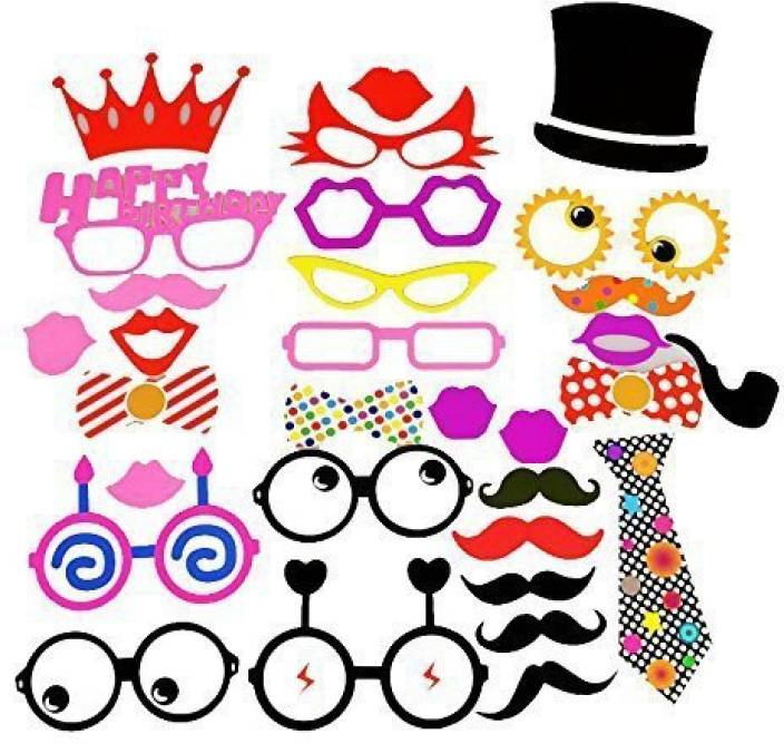 Funny Party 30Pcs Photo Props Birthday Party Photo Booth