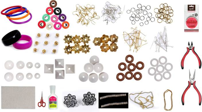 c3a261fe1a Prempari Silk Thread Jewellery Making Kit Silk Thread Jewellery