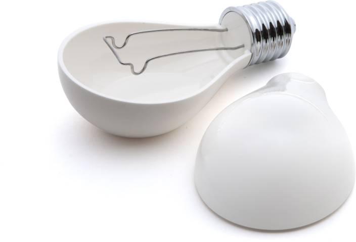 Shrih Unique Light Bulb Design White Plastic Ashtray