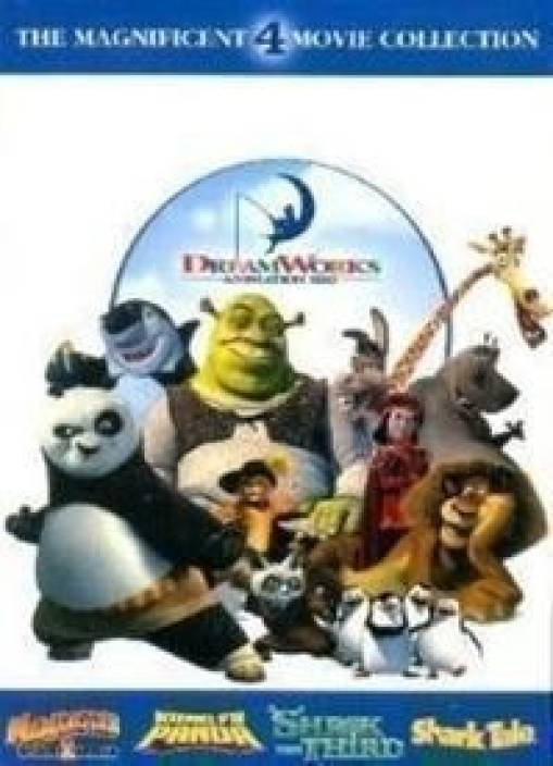 d788b1f5f1c5 DreamWorks Animation Pack (Kung Fu Panda Madagascar 2 Shrek 3 Shark Tale)  (DVD English)