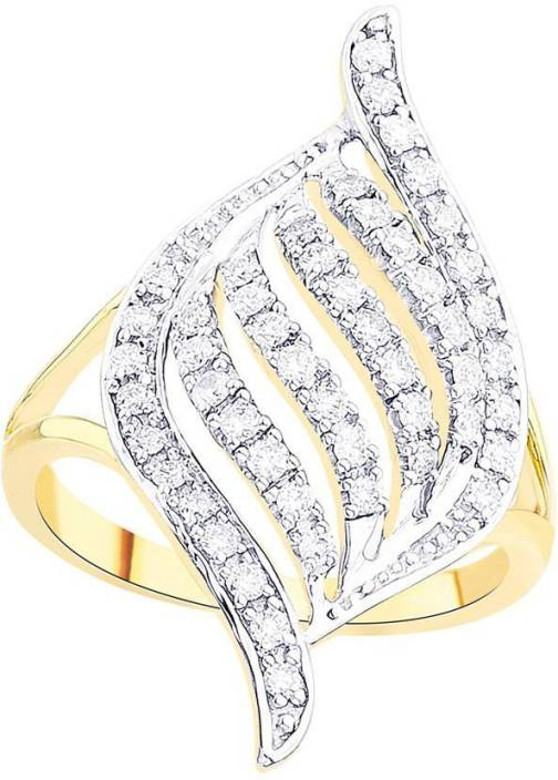 D'Damas Designer Gold Diamond Gold-plated Plated Ring Price