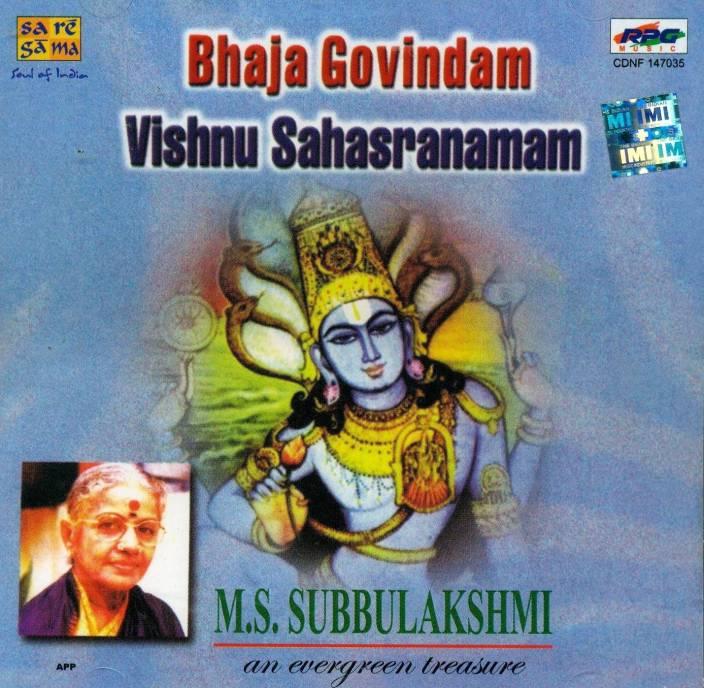 Bhaja Govindam: Vishnu Sahasranamam Audio CD Standard