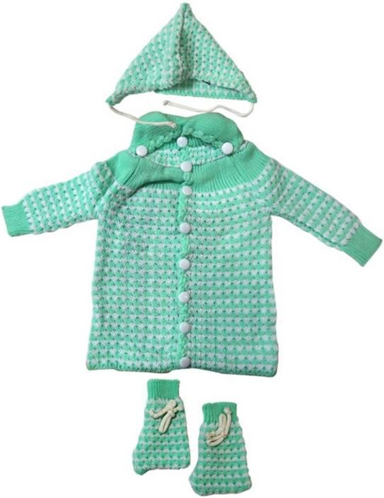 a3ebc2604 DCS (Light Green) New Born Baby Sweaters