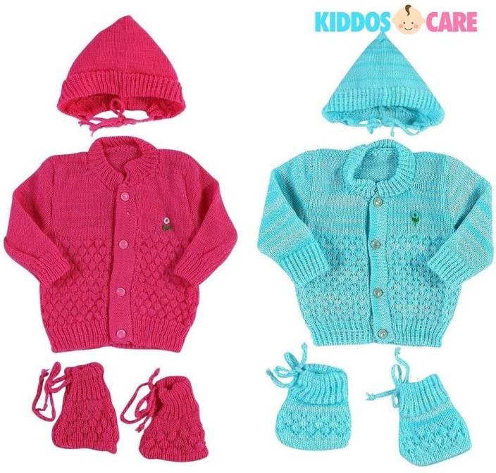 dfc5899a7 KiddosCare Woollen Knitted Baby Sweater (Blue