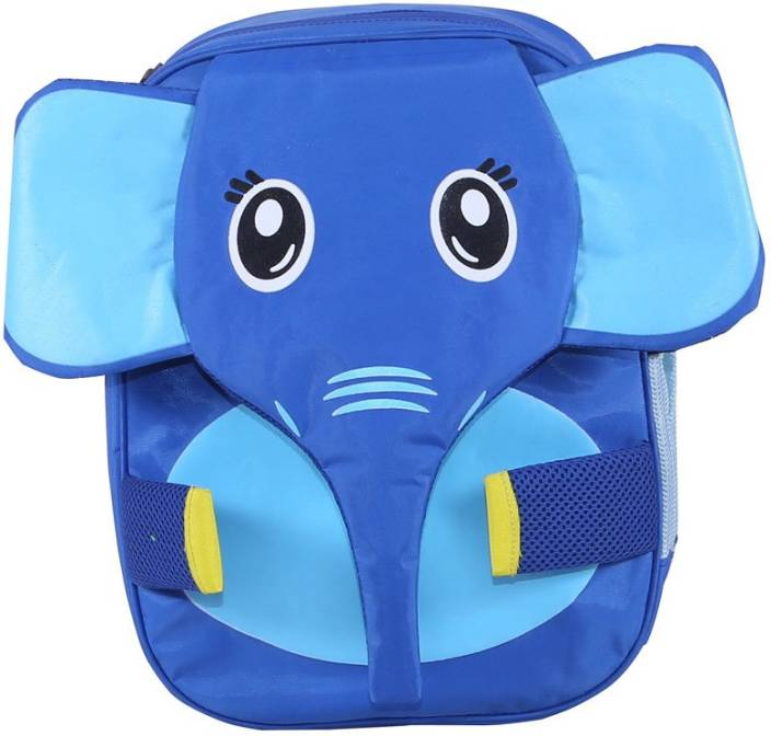 1a3cba9eeded Bleu School Kids Bag - 14 Inches - Baby Elephant boys Girls Bag - 23 14 L  Backpack (Blue)