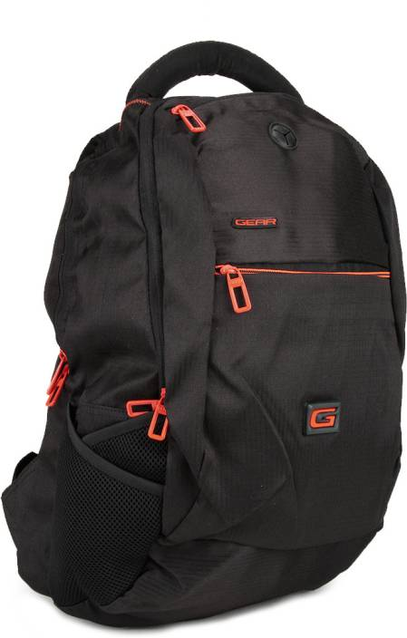Gear Space 4 30 L Backpack Black and Orange - Price in India ... 02844a3c153f3