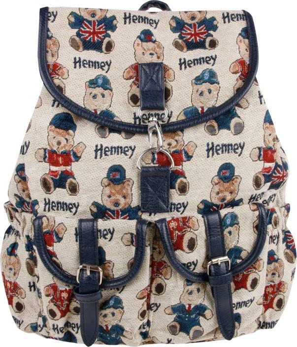 12966090f4 GoAppuGo Trendy Cute Teddy Design White Girls Women College Bag 6 L Backpack  (White)