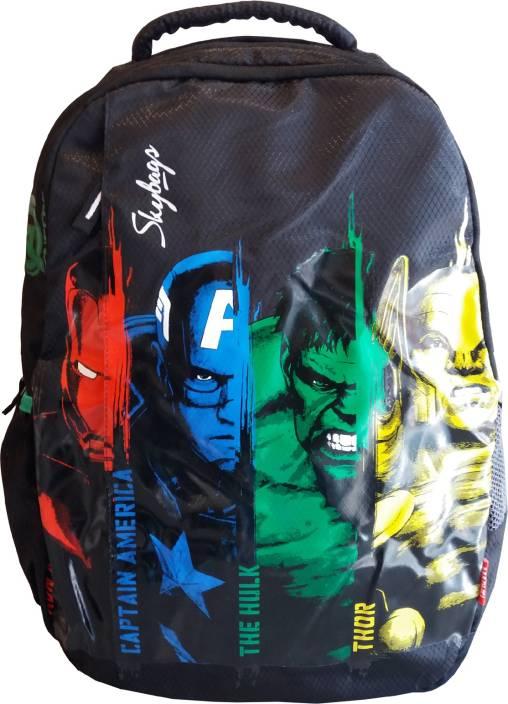 Skybags SB Marvel Avengers 01 Black 25 L Backpack Black - Price in ... e84c886774b08