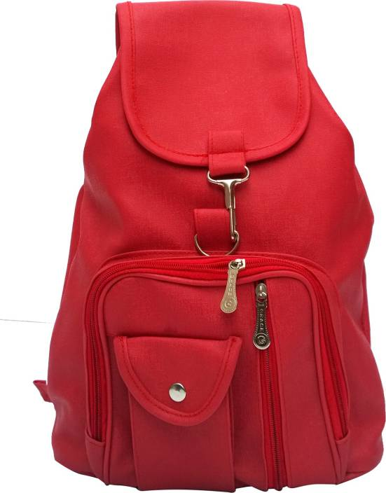 Vintage Stylish Ladies Expandable Backpack Handbag Red(bag 124 ...