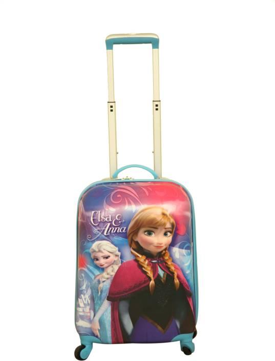 Gamme DISNEY FROZEN ELSA & ANNA KIDS LUGGAGE TROLLEY BAG Small ...