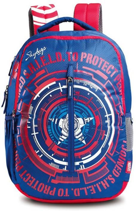 Skybags Sb Marvel Cap-Am 02 Blue School Bag (Multicolor