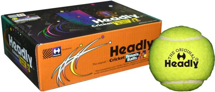 Headly Cricket Tennis Ball Light Tennis Ball -   Size: Standard
