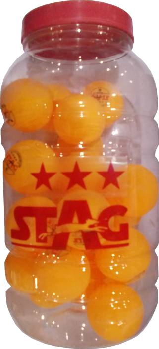 Stag Three Star Ping Pong Ball -   Size: Standard