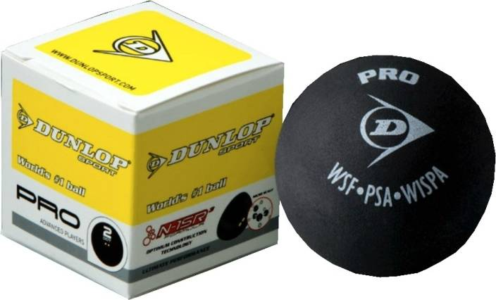 Dunlop Pro 2 Dot Squash Ball -   Size: Standard